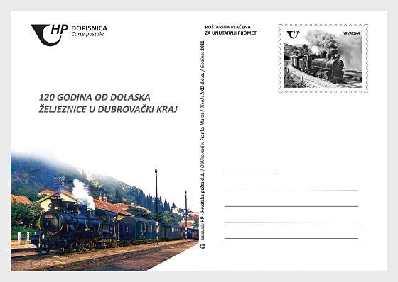 120 Years of Railway in Dubrovnik Area 2021 - Postcard
