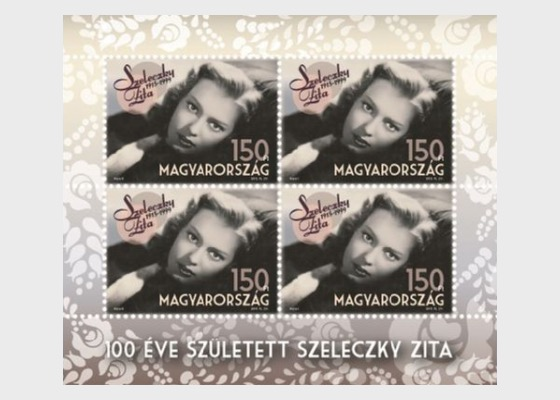 Zita Szeleczky was born 100 years ago - Miniature Sheet