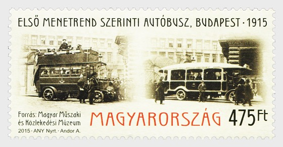 The first Scheduled bus service (Budapest, 1915) - Set