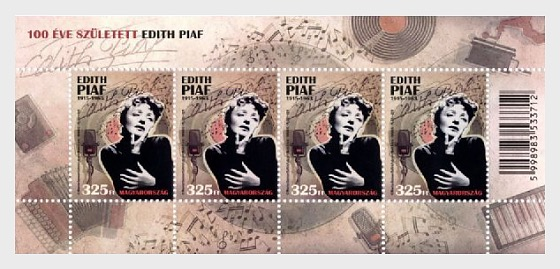 Edith Piaf was born 100 years ago - Miniature Sheet