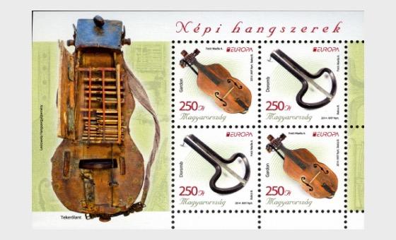 Europa 2014: National Music Instruments - Miniature Sheet