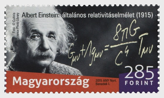 Albert Einstein presented the general theory of relativity 100 years ago - Set