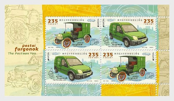 Europa 2013- The Postman Van - Miniature Sheet