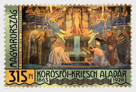 Famous Hungarians- Aladár Körösfői-Kriesch was Born 150 Years Ago - Set