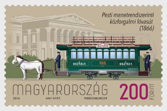 Primo Tram a Cavallo in Programma a Pest è Entrato in Servizio 150 Anni Fa - Serie