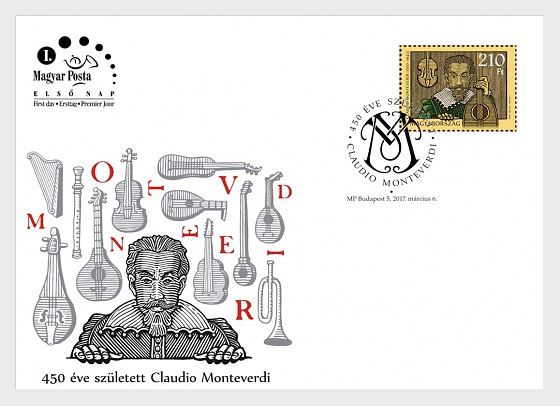 Claudio Monteverdi was born 450 years ago - First Day Cover