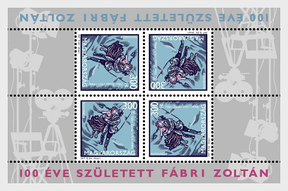 Zoltán Fábri was born 100 years ago - Miniature Sheet