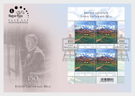 Bela Ivanyi Grunwald Was Born 150 Year Ago - First Day Cover
