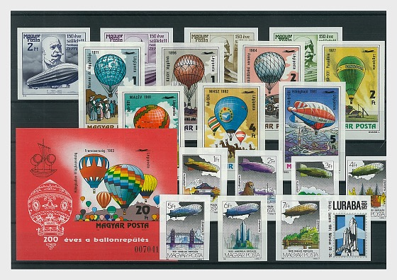 Imperforated Thematic Sets - Aviation III - Collectibles