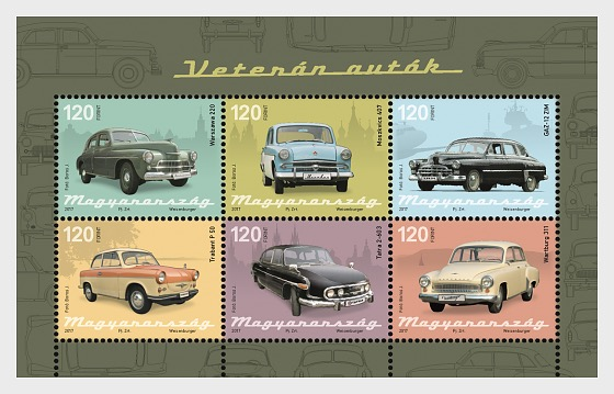 Oldtimer Cars - Miniature Sheet
