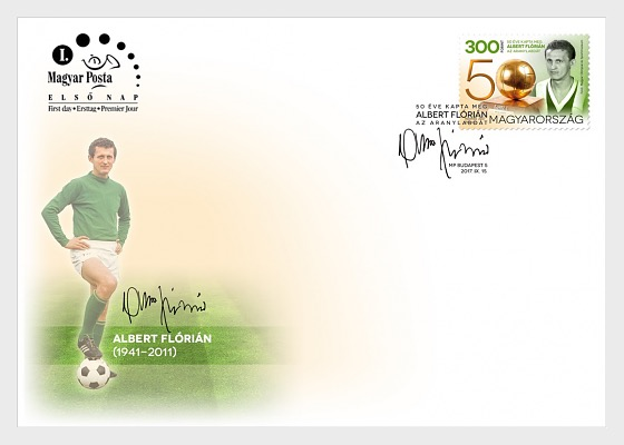 Florian Albert Won the Ballon D'Or 50 Years Ago - First Day Cover