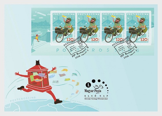 Postcrossing - (FDC M/S) - First Day Cover