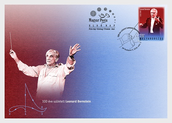 Leonard Bernstein was Born 100 Years Ago - First Day Cover