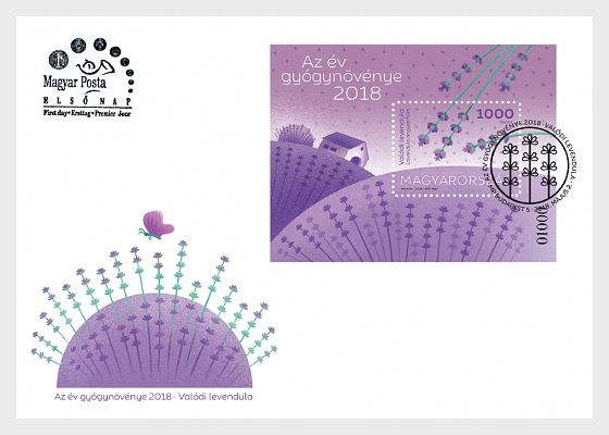 Medical Plant of the Year 2018 - True Lavender - First Day Cover
