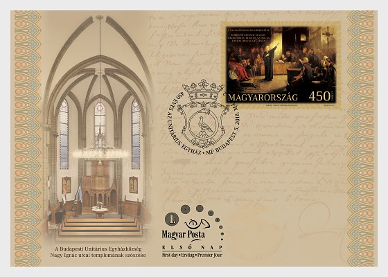 The Unitarian Church 450 Years Old - First Day Cover