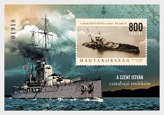 In Memory of the Battleship Saint Stephen - (Perforated M/S) - Miniature Sheet
