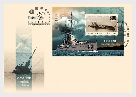 In Memory of the Battleship Saint Stephen - First Day Cover