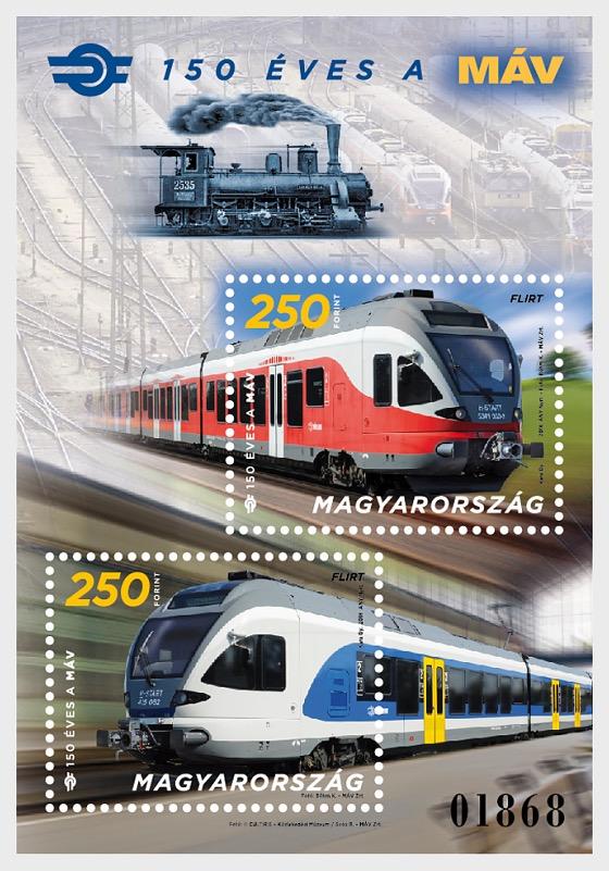150 Years of Hungarian State Railways - Miniature Sheet