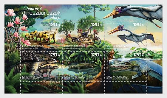 The World of the Bakony Dinasours - Miniature Sheet