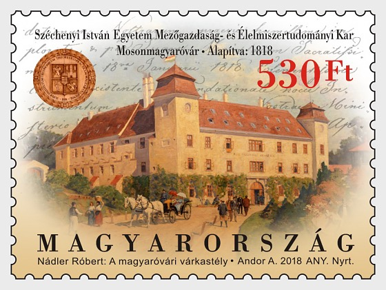 Faculty of Agriculture & Food Science, Szechenyi Istvan University, Mosonmagy Arovar, Was Founded 200 Years Ago - Set