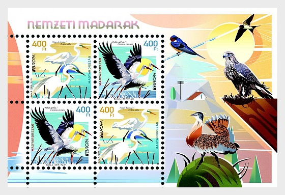 Europa 2019 - Birds - Miniature Sheet