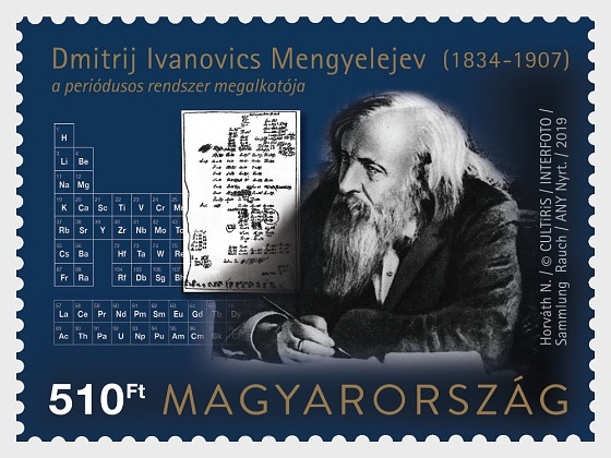 Dmitri Ivanovich Mendeleev Created the Periodic Table of Elements 150 Years Ago - Set