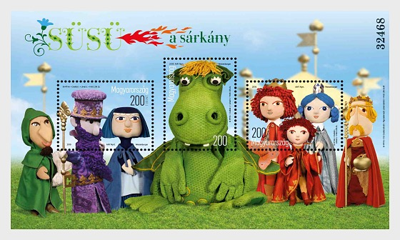 Fairy Tale Characters - SUSU The Dragon - Miniature Sheet