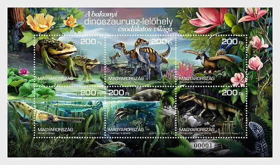 The Wonderful World of the Bakony Dinosaur Site II - M/S Perforated - Miniature Sheet