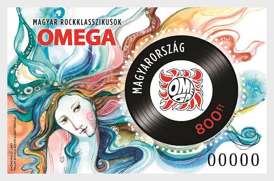 Hungarian Rock Classics I Omega - Pearls In Her Hair - Miniature Sheet