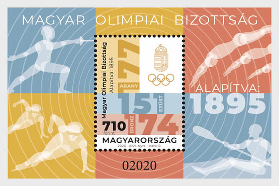 125 Years Of The Hungarian Olympic Committee - Miniature Sheet