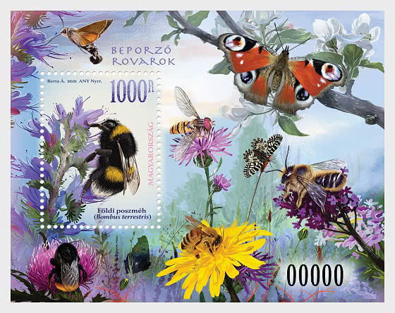 Pollinating Insects - Miniature Sheet