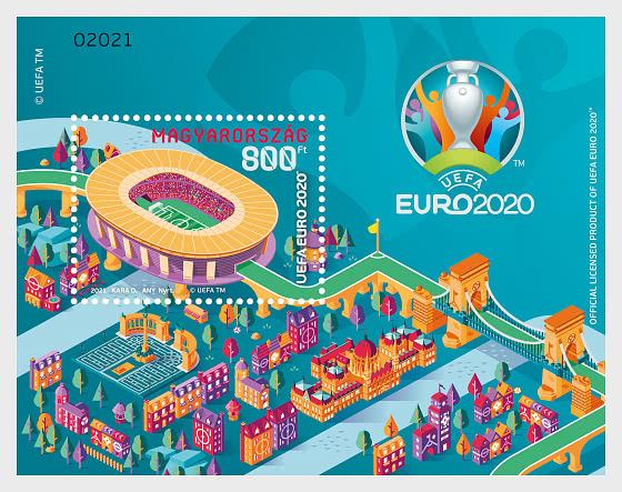 UEFA Euro 2020TM European Football Championship - Miniature Sheet