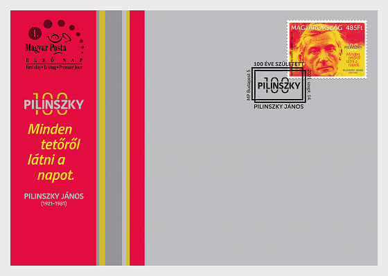 Janos Pilinszky Born 100 Years Ago - First Day Cover