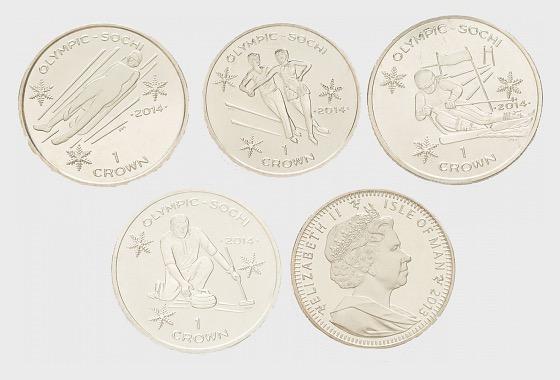 Winter Olympics 4 Crown Set - Commemorative