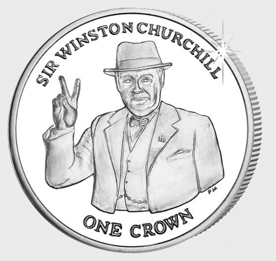 Sir Winston Churchill Crown - Commemorative