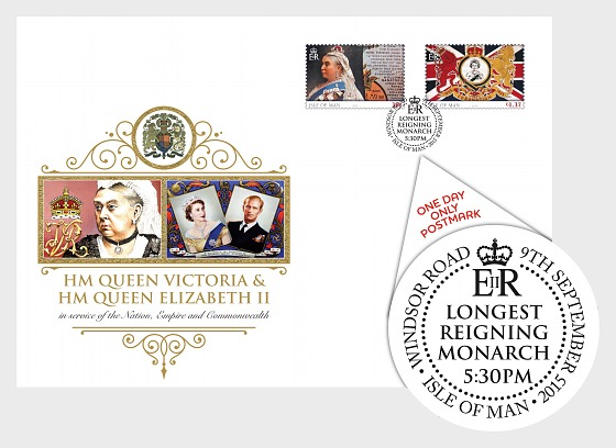 Longest Reigning Monarch Postmark Cover – 5.30pm Windsor Road Post Office - First Day Cover