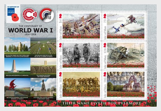 The Centenary of the Battle of the Somme Memorials Sheetlet  - Sheetlets