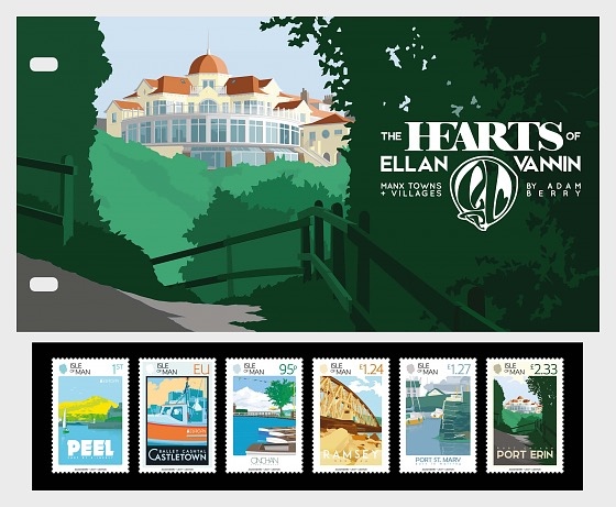 The Hearts of Ellan Vannin - Manx Towns and Villages - Presentation Pack