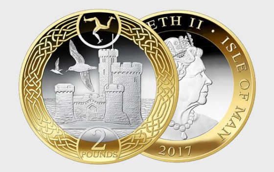 Two pounds - Tower of Refuge 2017 Decimal Coin in wallet - Single Coin