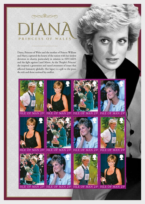 Diana, Princess of Wales, A Postal Tribute - Sheetlets