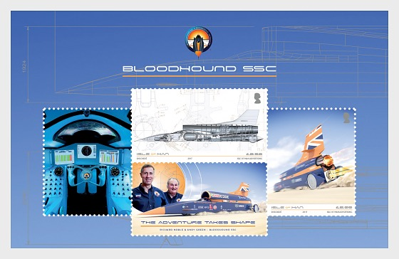 BLOODHOUND SSC - Miniature Sheet CTO