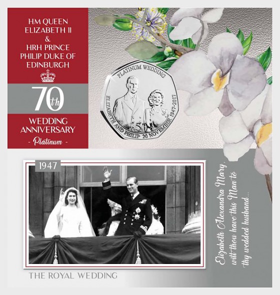 Platinum Wedding Limited Edition Proof-Like Part 1 - Commemorative