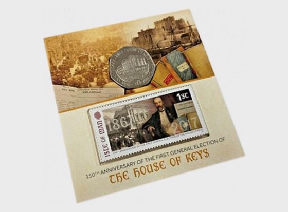 House of Keys Stamp and Coin Pack - Commemorative