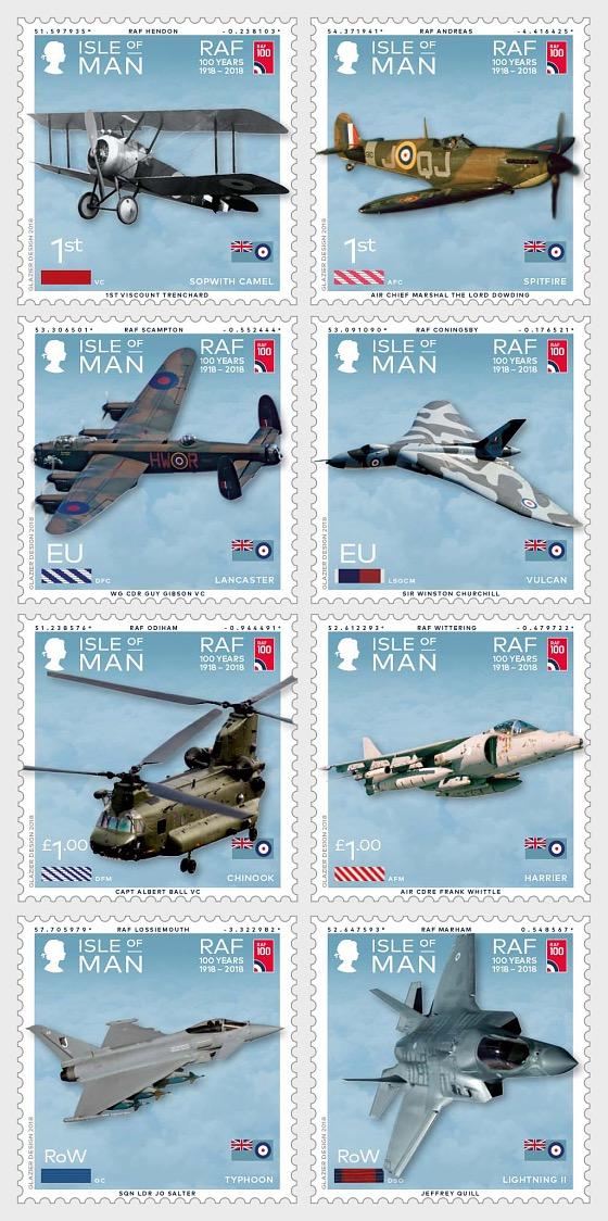 皇家空军100年 - 套票