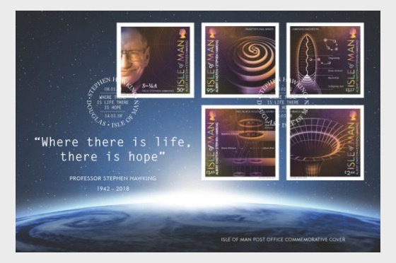 Professor Stephen Hawking Special Commemorative Cover - First Day Cover