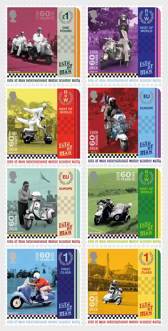 Isle of Man International Scooter Rally - (Set Mint) - Set