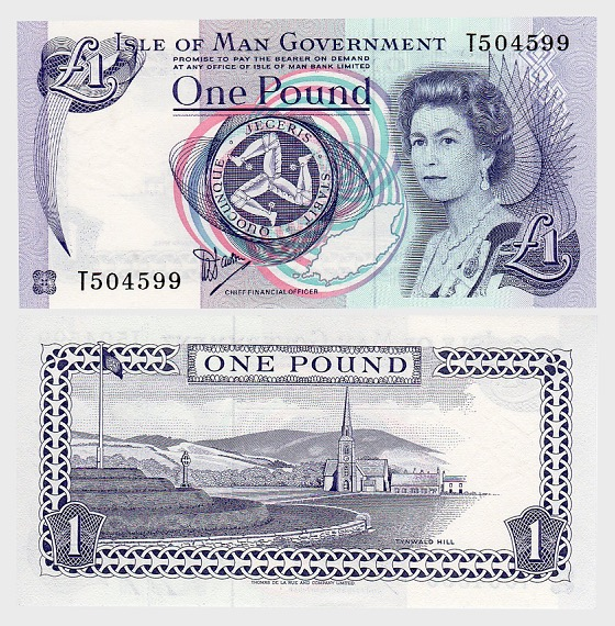 Isle of Man £ 1 Banknote (Casa de la Moneda) - Billetes de banco