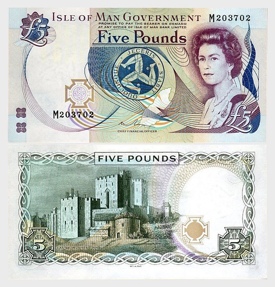 Isle of Man £5 Banknote (Mint) x 10 Units - Banknote
