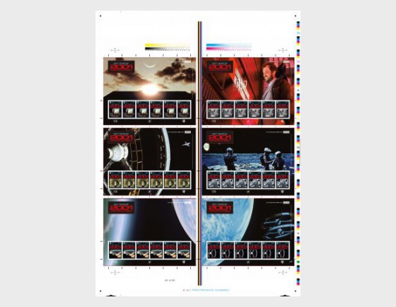 2001 - A Space Odyssey - (Printer's Stamp Pane Only - Uncut) - Collectibles