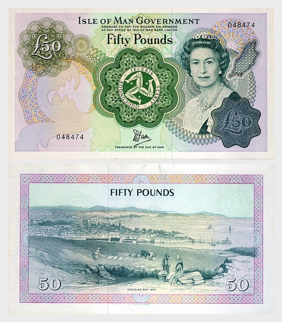 Isle of Man £50 Banknote (Mint) - Banknote